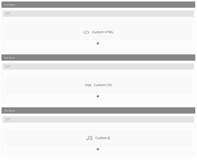 Custom HTML, CSS, JS